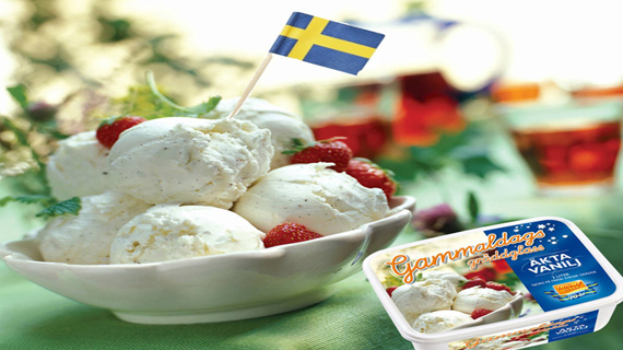Vad är ett midsommarfirande utan svenskarnas favoritgräddglass?