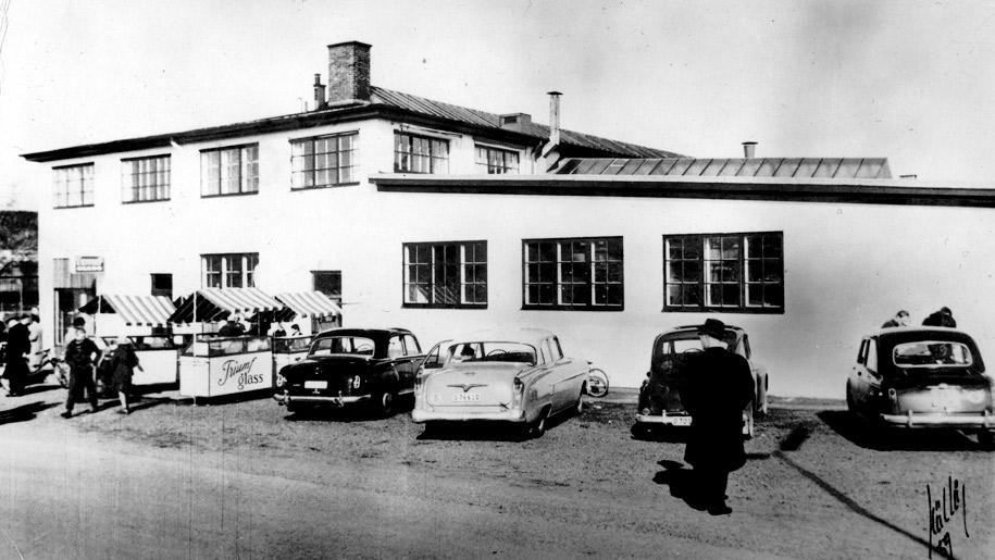 Nya glassfabriken 1959 i Sävedalen