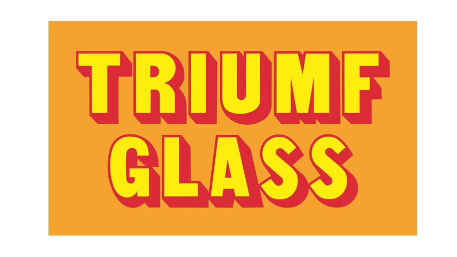 Triumf Glass sunsetfärgade logotyp