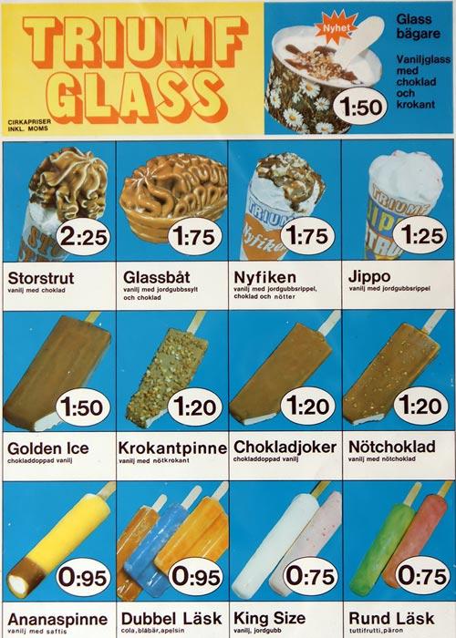 Triumf Glass Pinnar & Strutar 1975