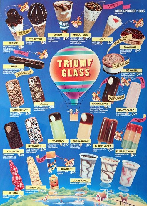 Triumf Glass Pinnar & Strutar 1985
