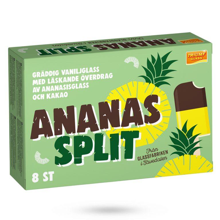 Triumf Glass Ananas Split 8 glasspinnar