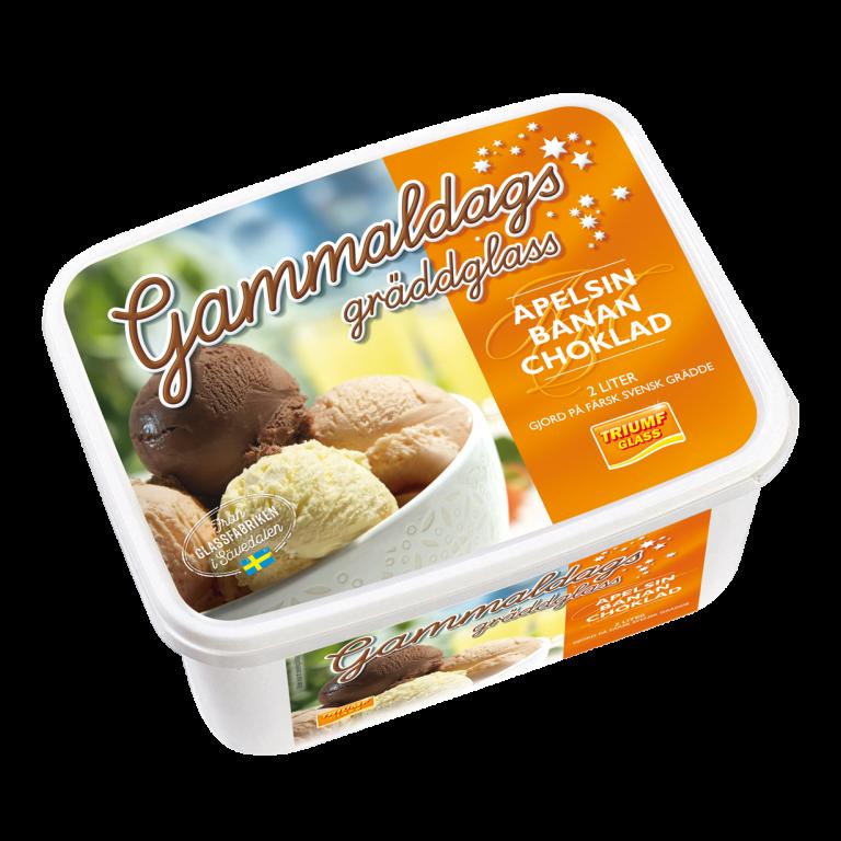 Gammaldags Gräddglass Apelsin Banan Choklad