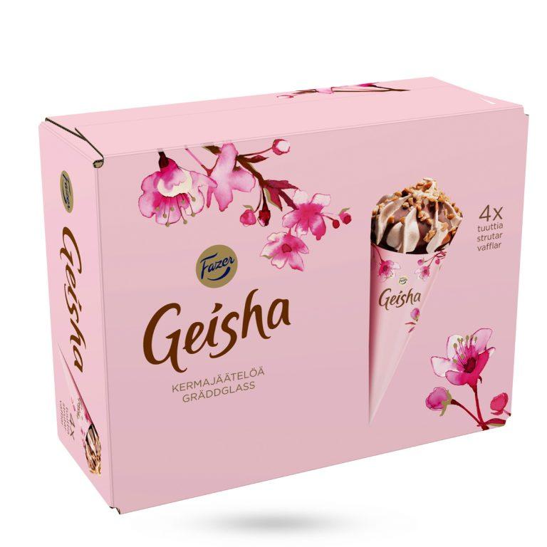 Geisha glasstrutar