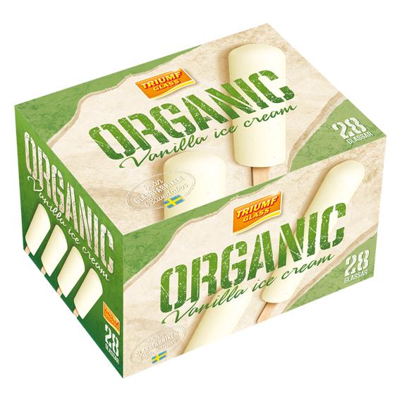 Organic 28 vaniljglassar